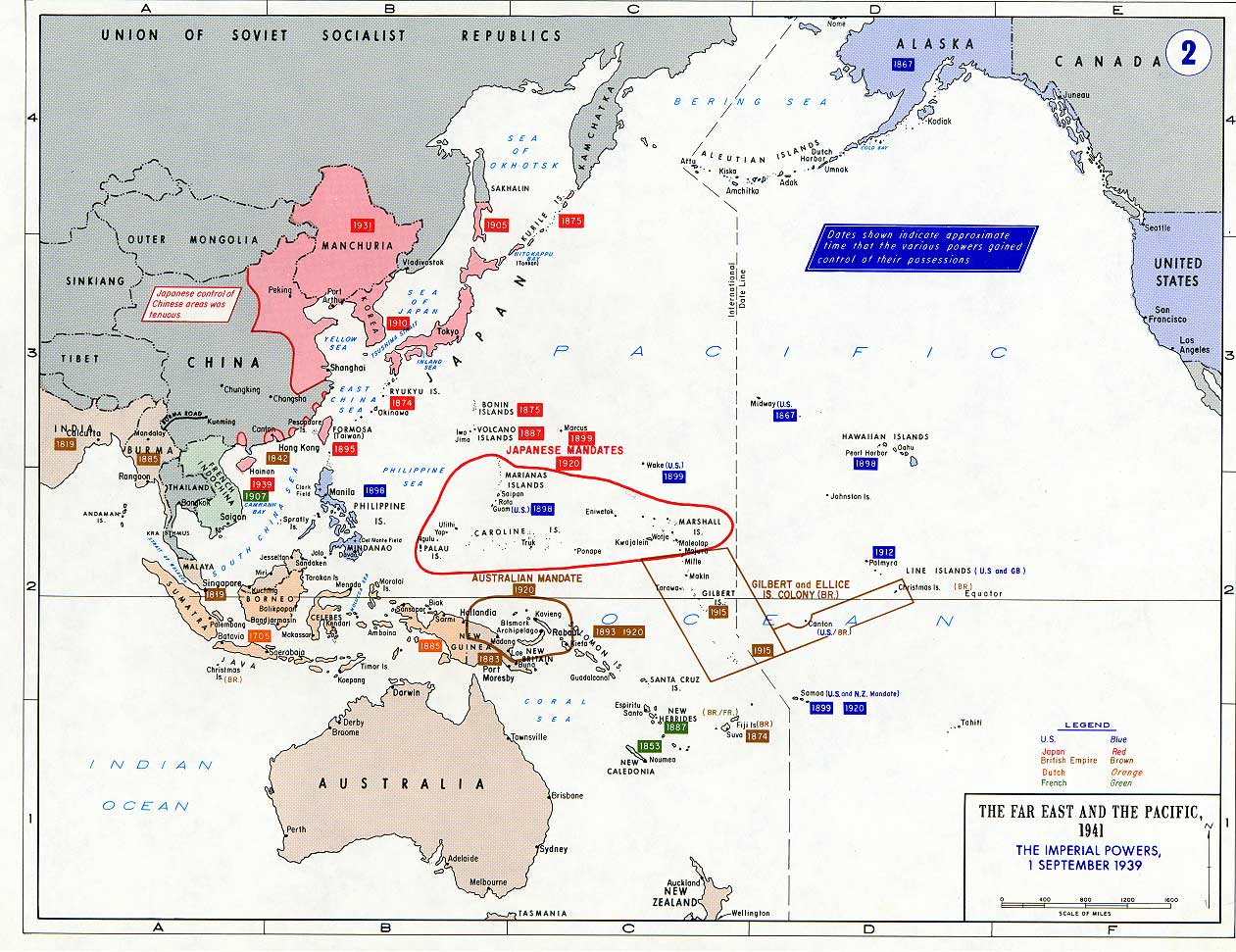 Pacific War - The Imperial Powers 1939 - Full size