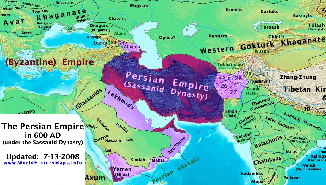 The Persian Sassanid Empire in 600