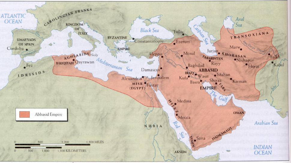 Resultado de imagen de mapa califato abásida