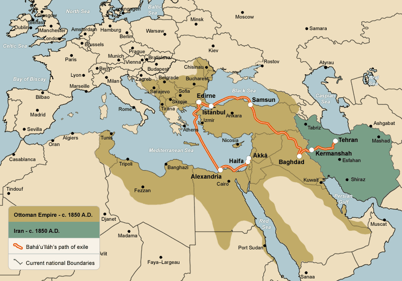 The Ottoman Empire circa 1850  with current national boundaries and    Ottoman Empire Ww1