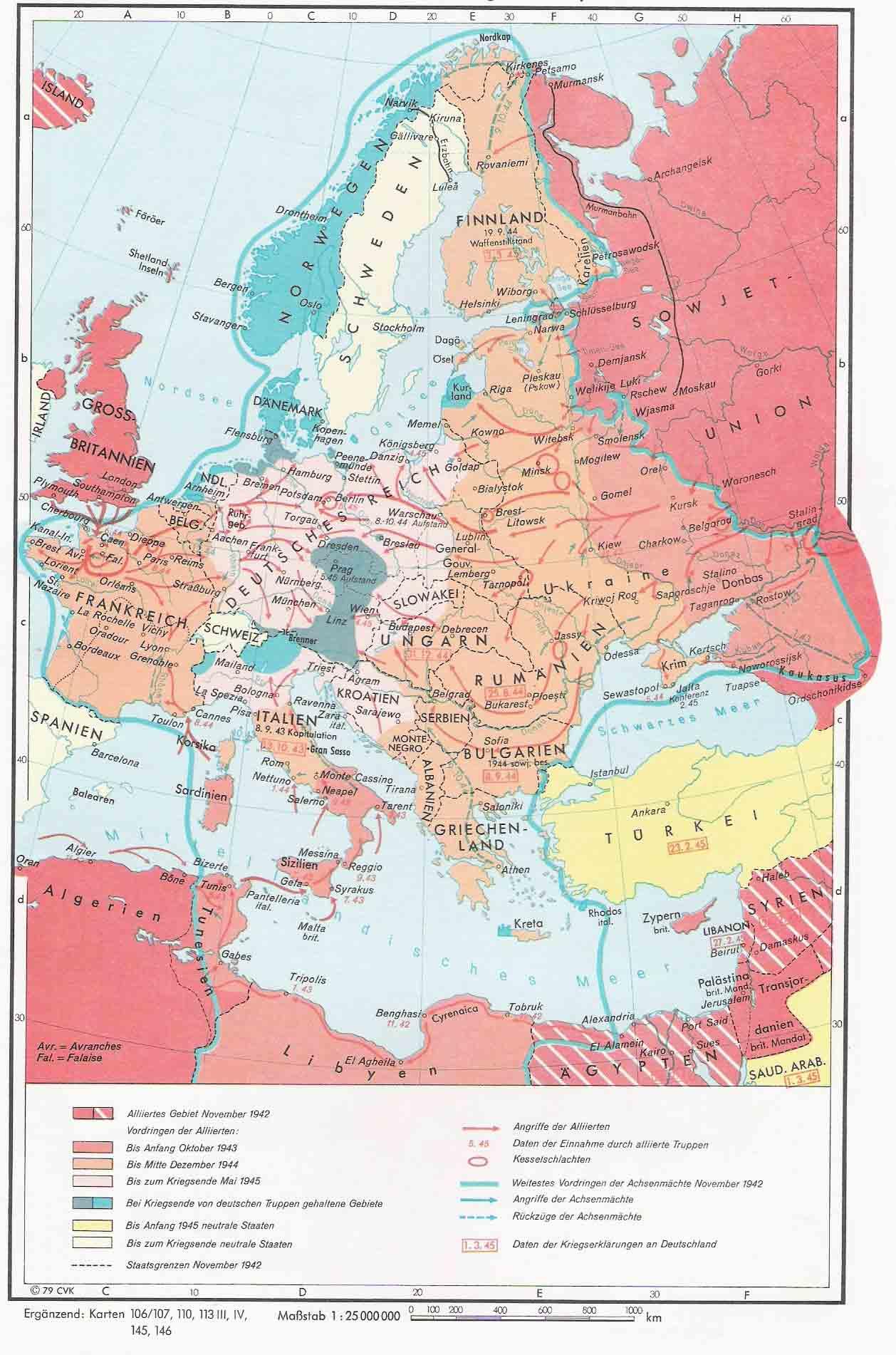World war ii in europe 1942 1945