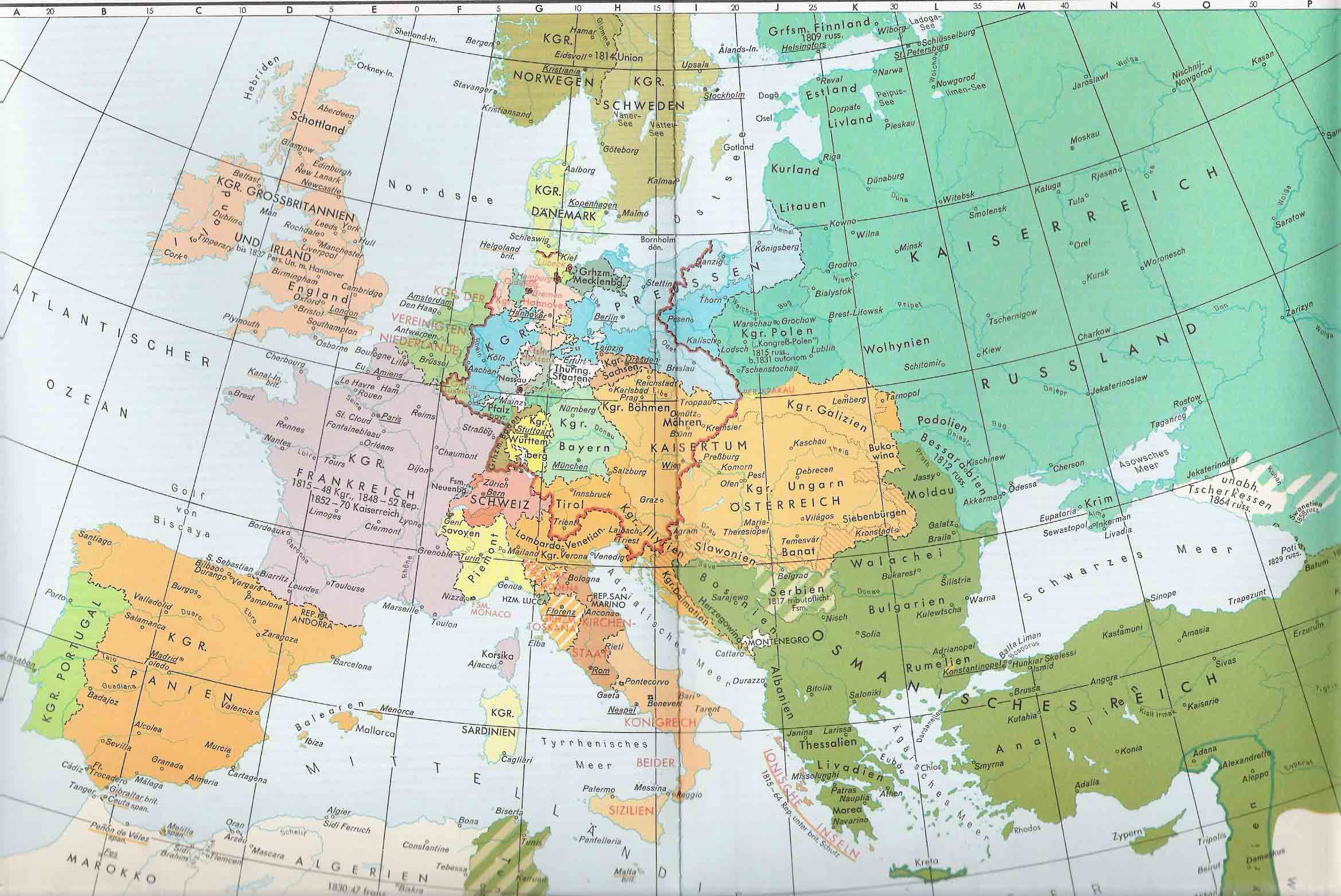 Europe in 1815 after the Congress of Vienna Full size