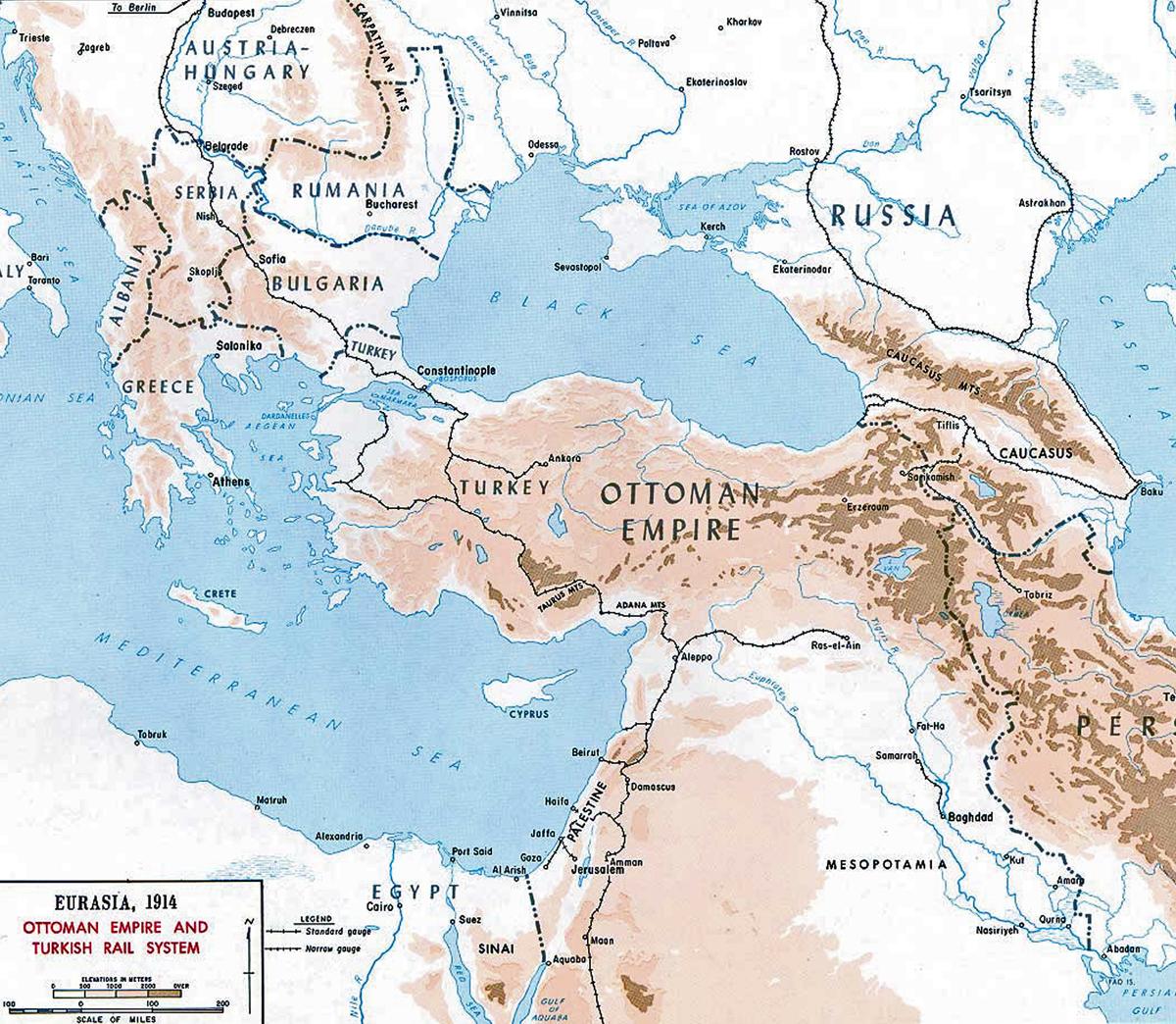 Ottoman Empire s rail system 1914Ottoman Empire Ww1