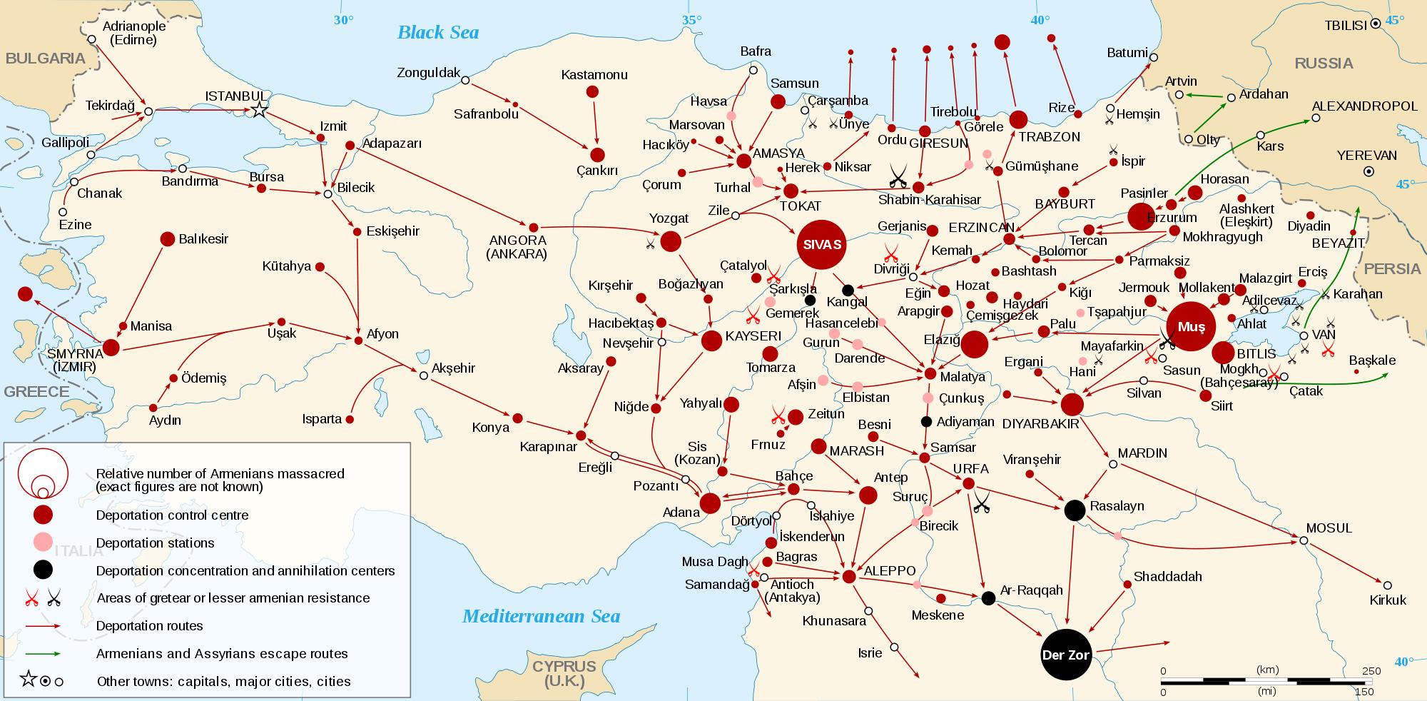 Genocidio armenio en el Imperio Otomano en 1915
