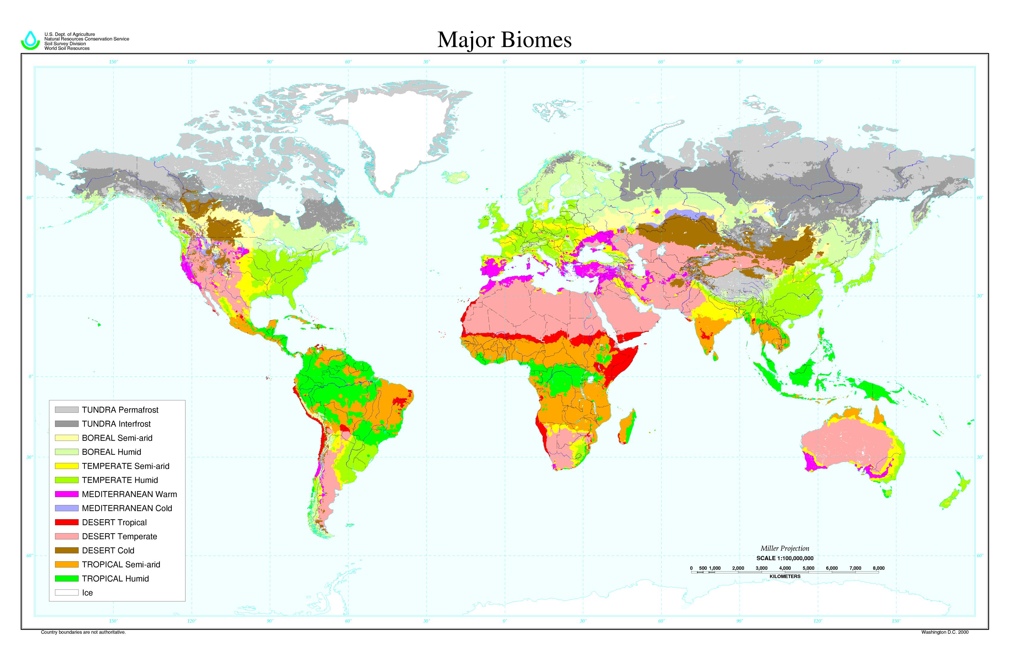 World major biomes 2000 - Full size
