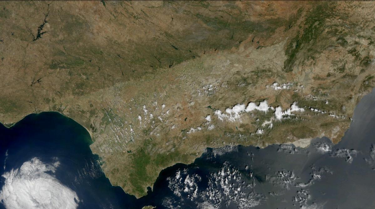 Resultado de imagen de andalucia satelite