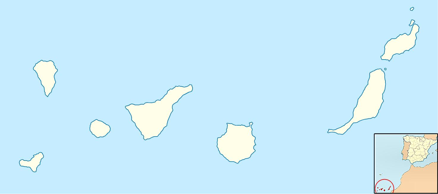 Tamaño Islas Canarias Mudo de Las Islas Canarias