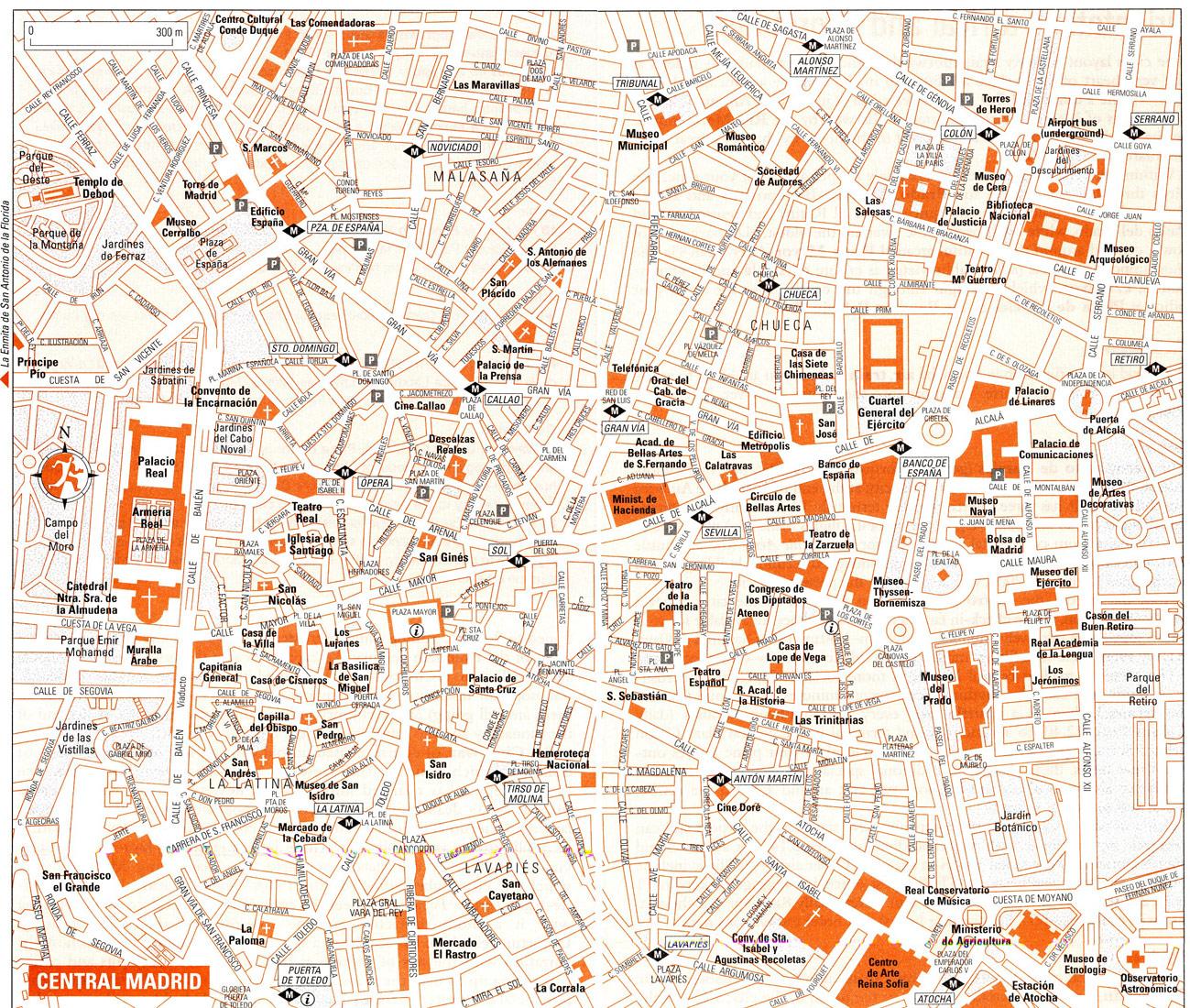 Map of Madrid Area Spain
