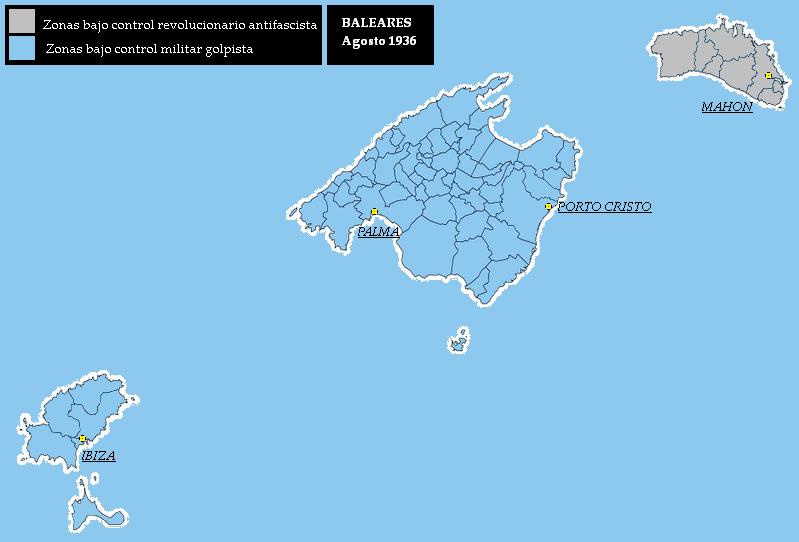 Tamaño Islas Baleares Islas Baleares Agosto 1936
