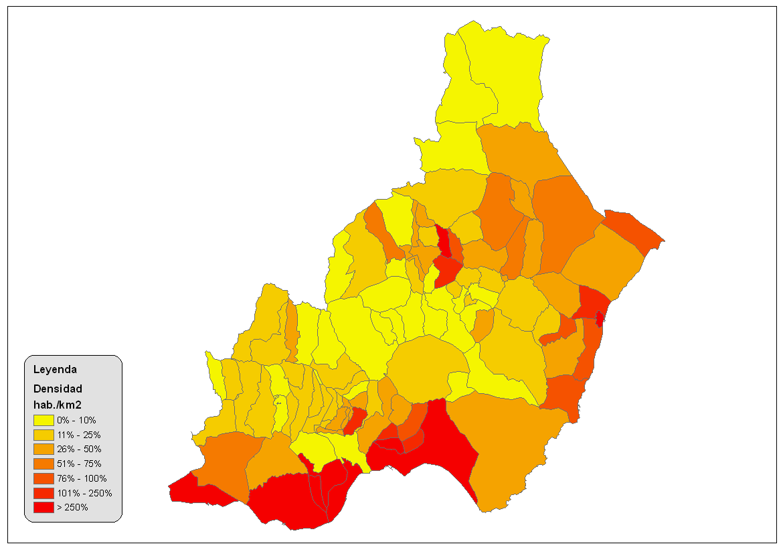 distribucion poblacion region provincia: