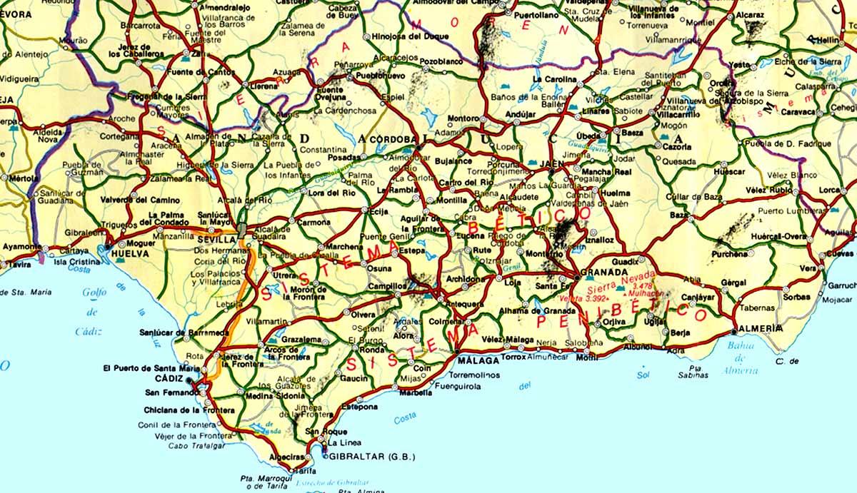 Mapa de carreteras de ...