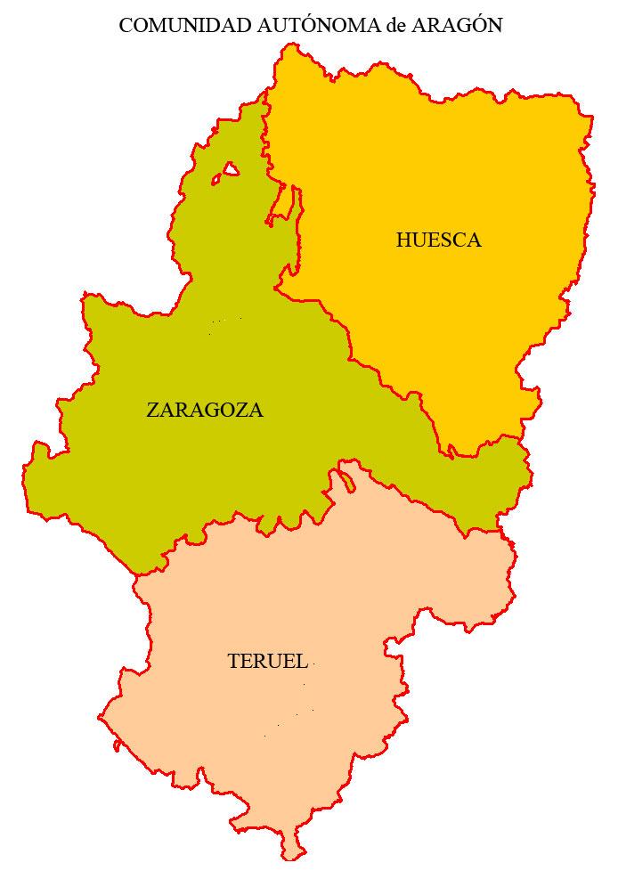 Mapa De Teruel Capital.Aragon Spain