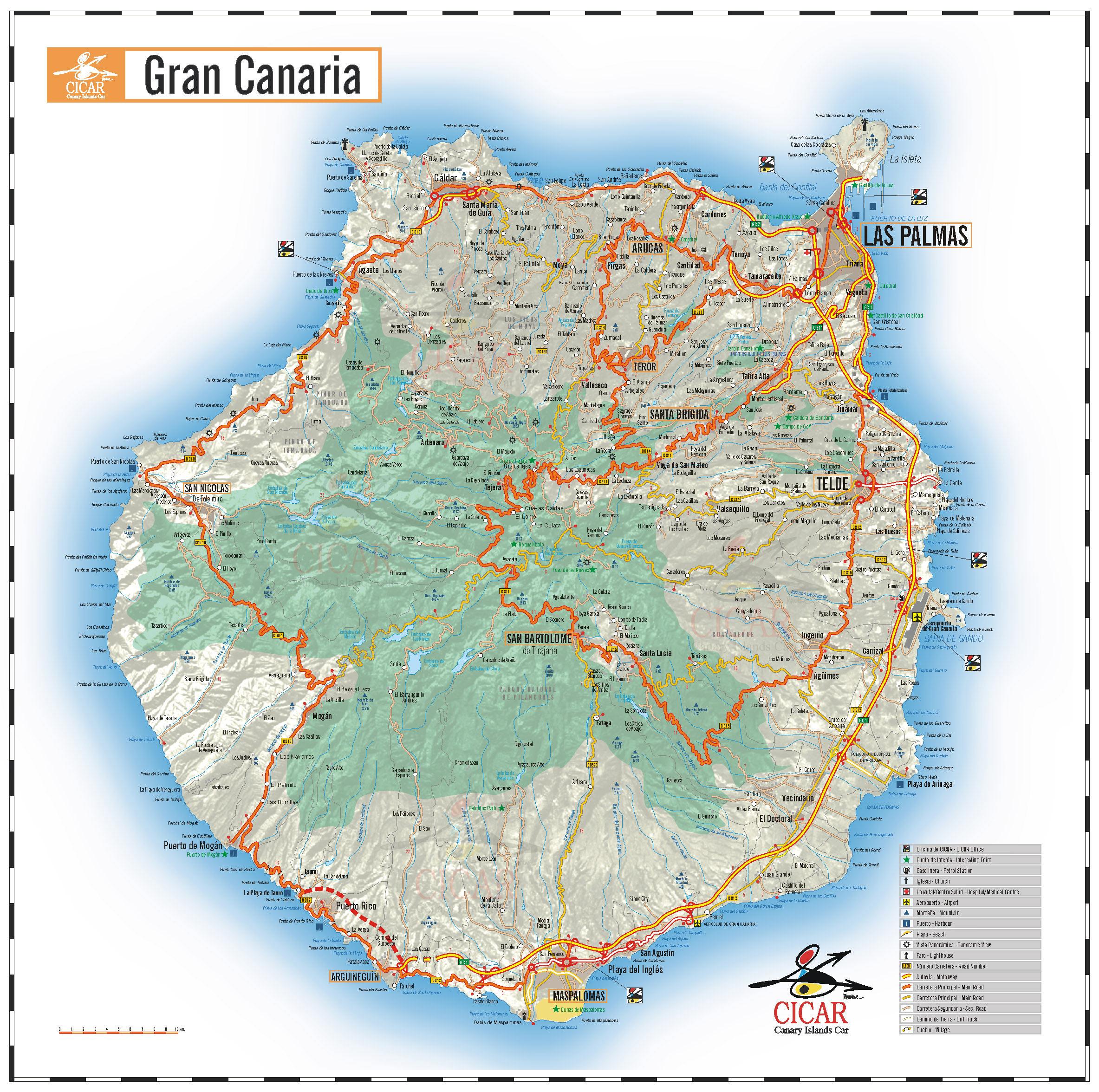 Tamaño Islas Canarias de la Isla Gran Canaria