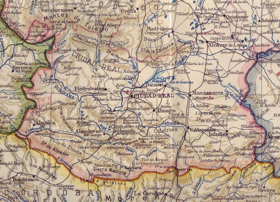 Provincia de ciudad real en 1938 tama o completo - Plano de ciudad real ...