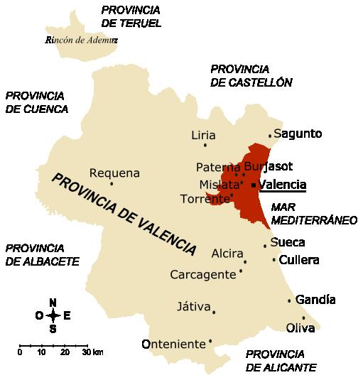 Provincia Valencia Municipios Provincia de Valencia 2005