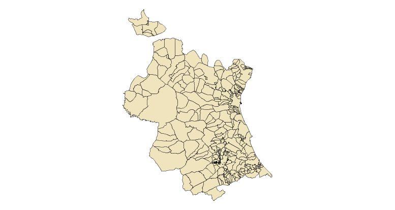 Provincia Valencia Municipios Provincia de Valencia 2003