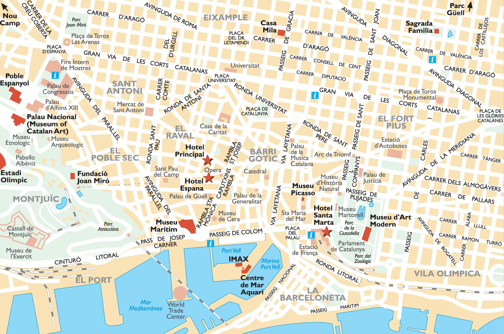 BARCELONA MAP Zannas Cole – Barcelona Tourist Map Pdf