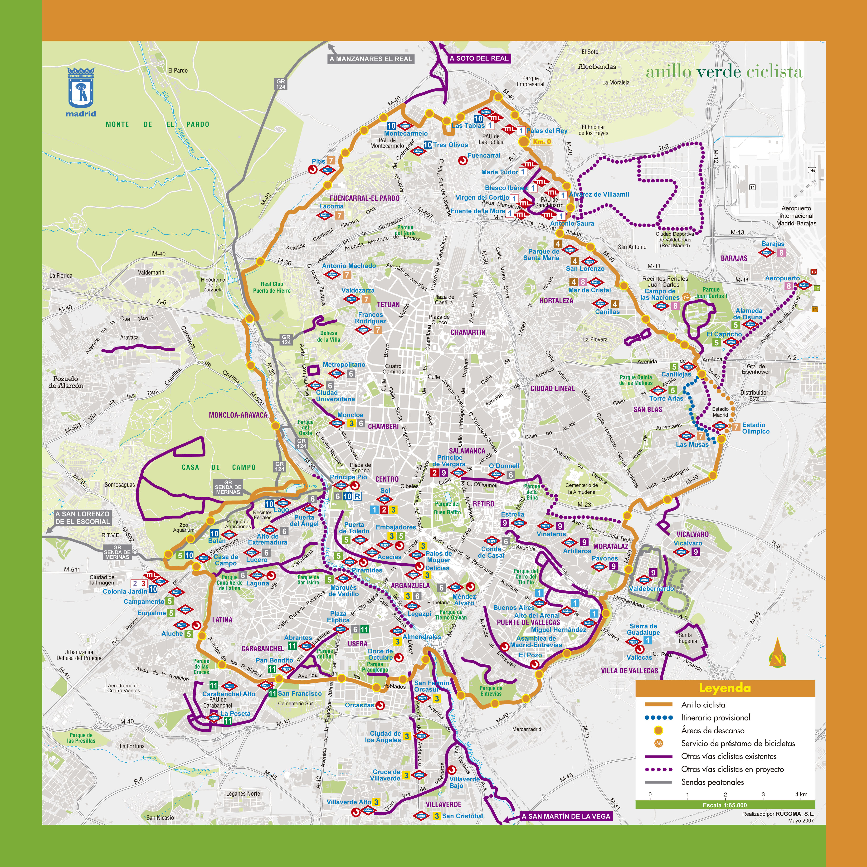 Anillo verde ciclista de madrid 2007 tama o completo - Anillo verde ciclista madrid mapa ...