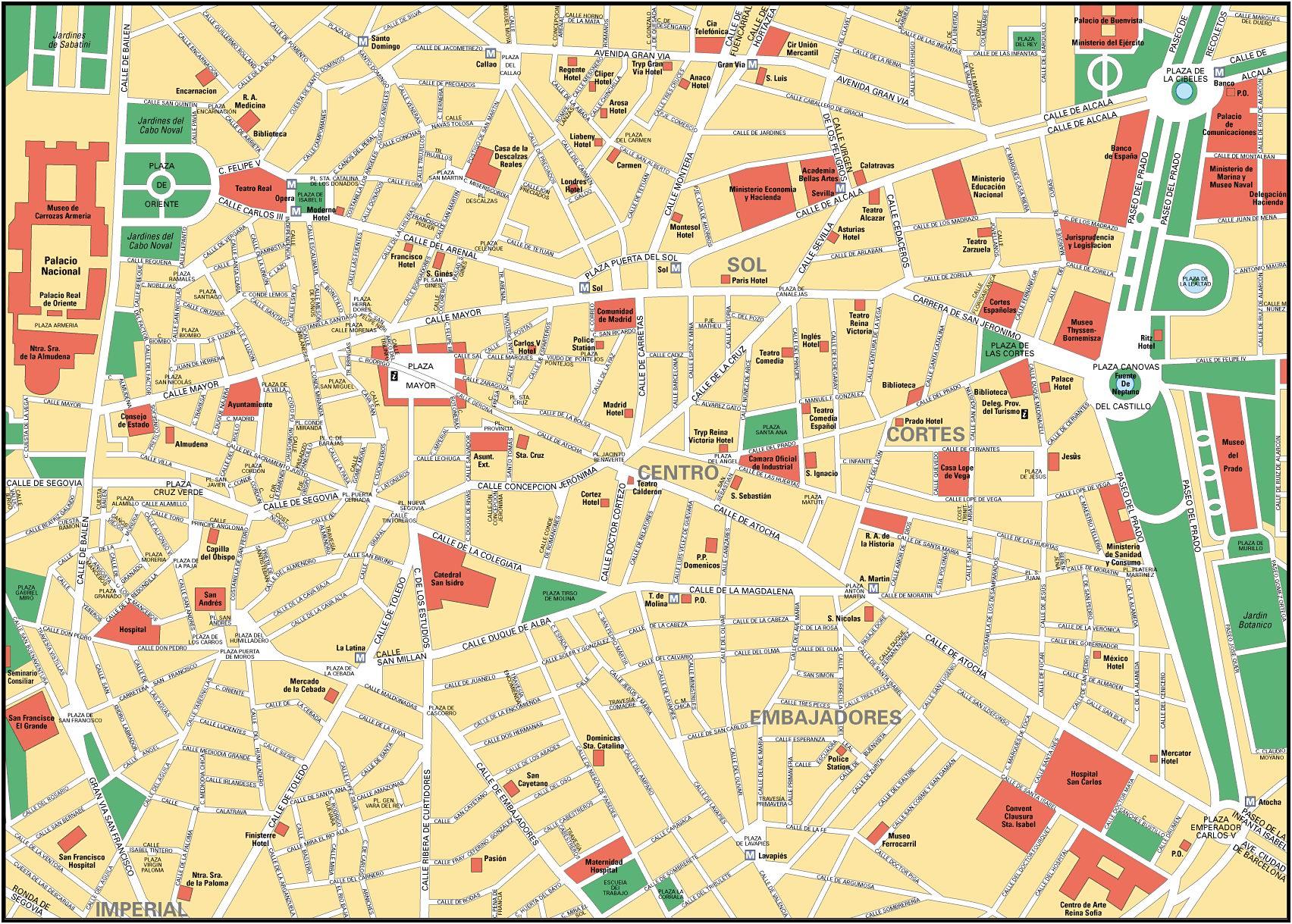 Mapa de Madrid - Tamaño completo