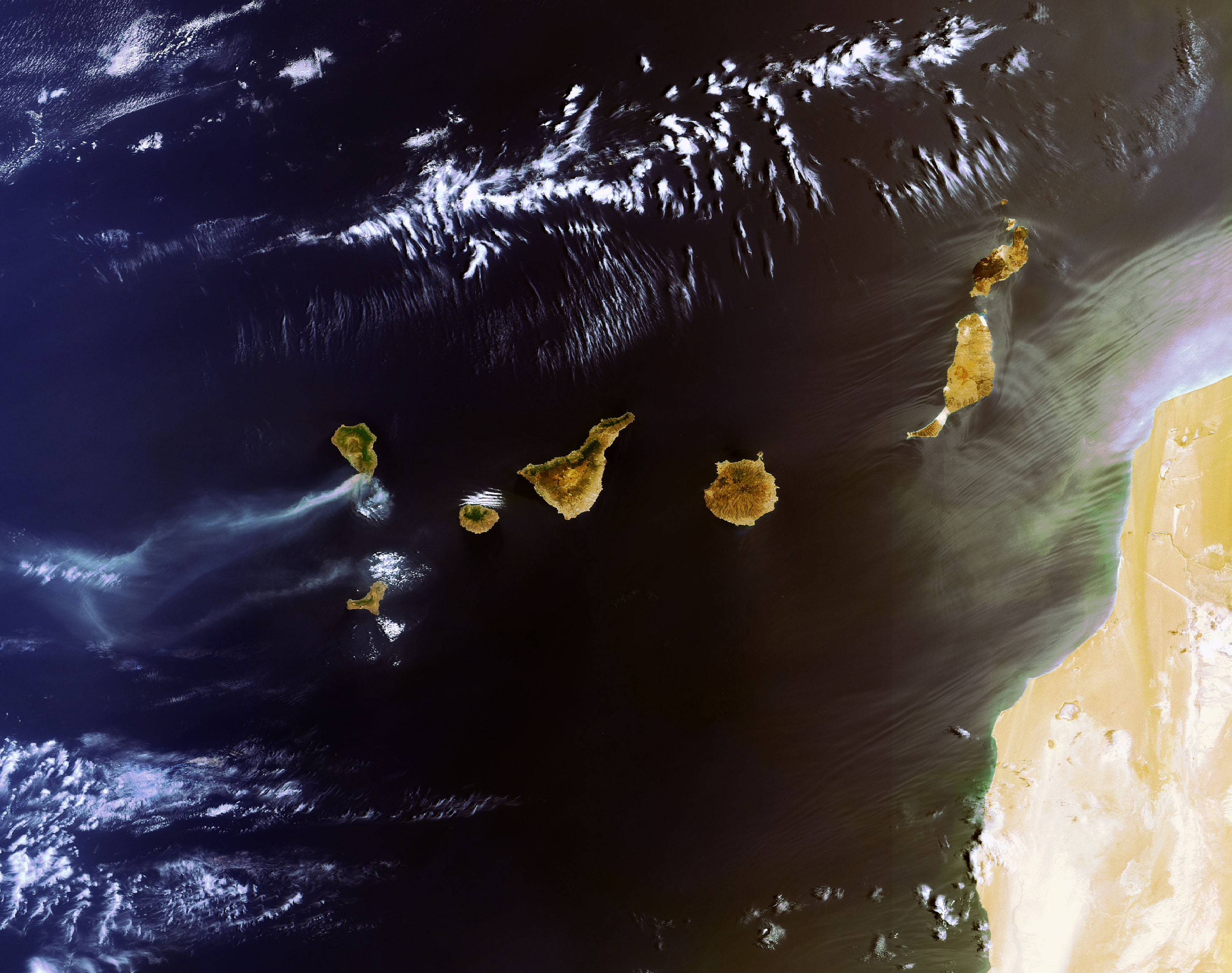 Tamaño Islas Canarias Mapa de Las Las Islas Canarias