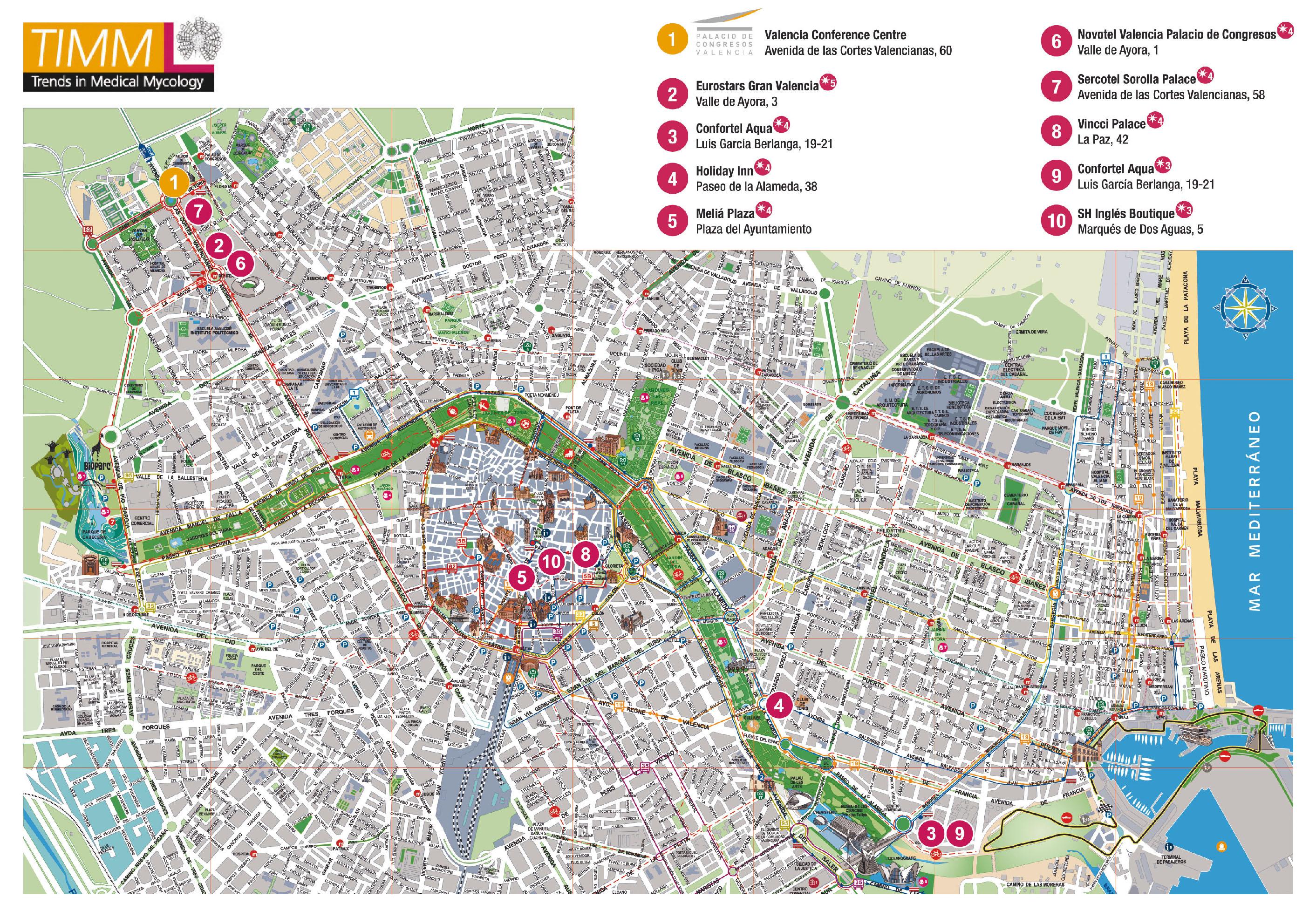 el mapa de valencia:
