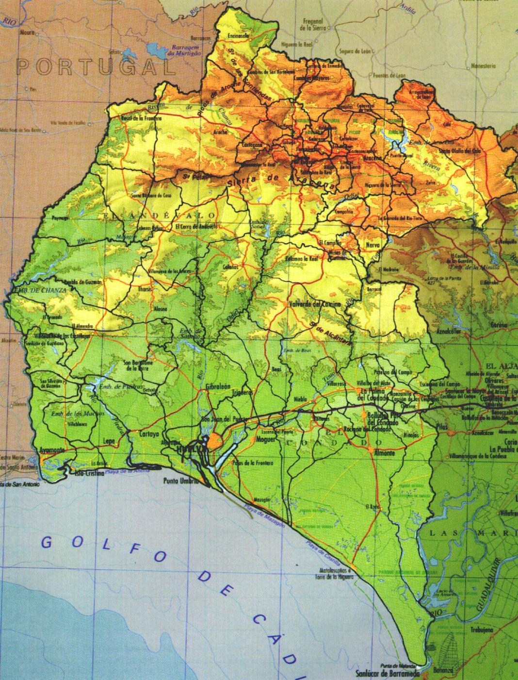 Provincias Barcelona Mapa Mapa Físico de la Provincia de