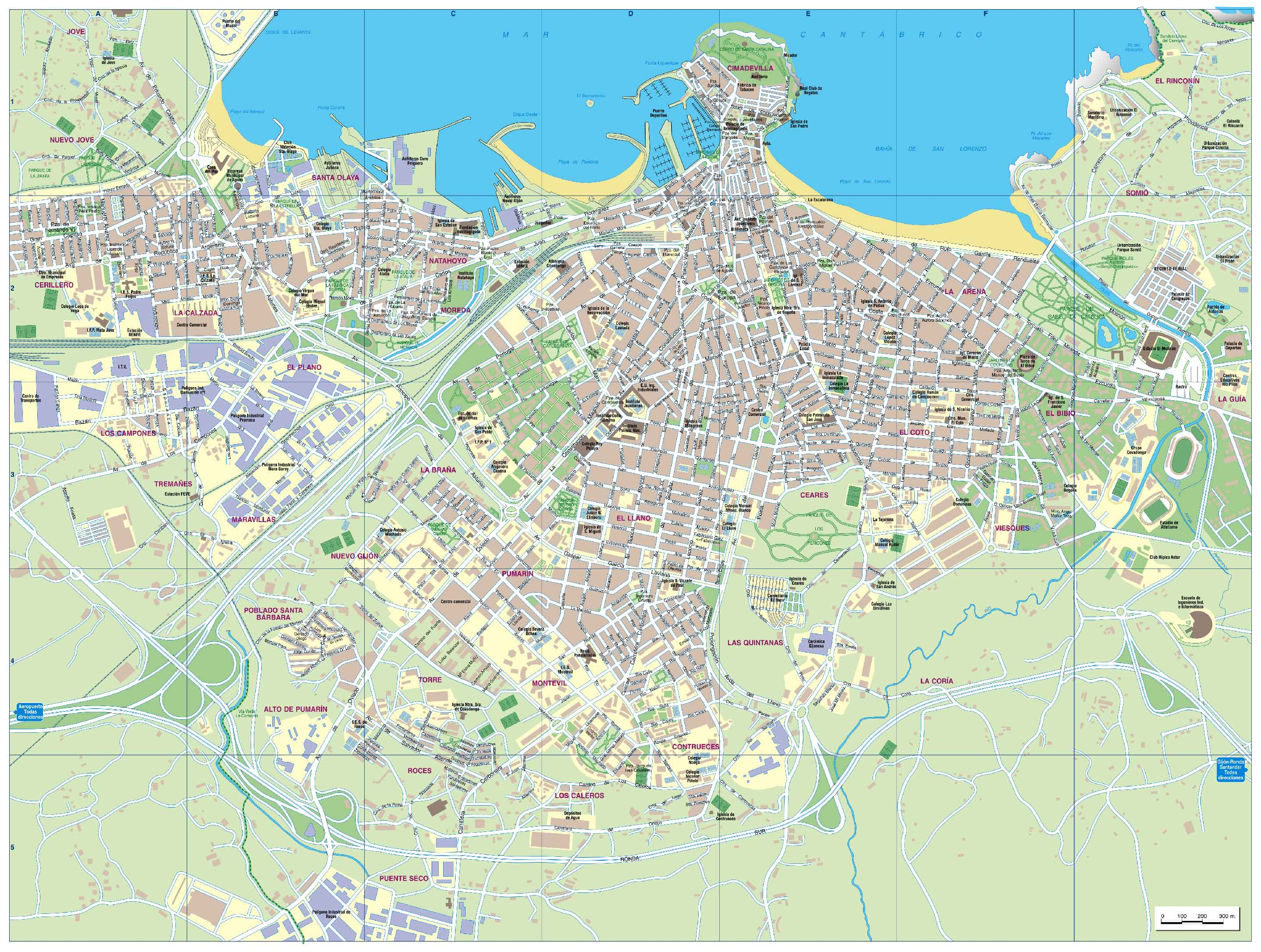 Gijon Spain  city photos gallery : Gijon Spain Map