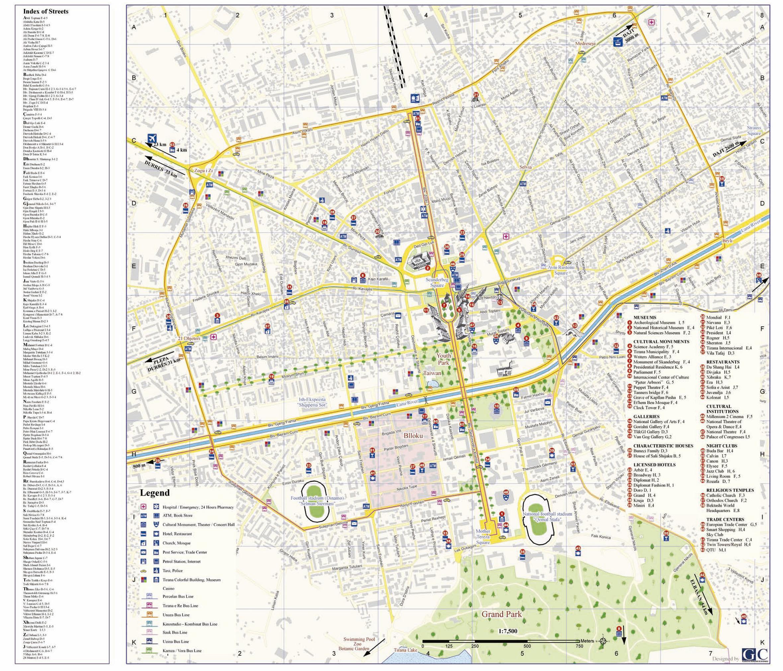 Tirana Map | Maps