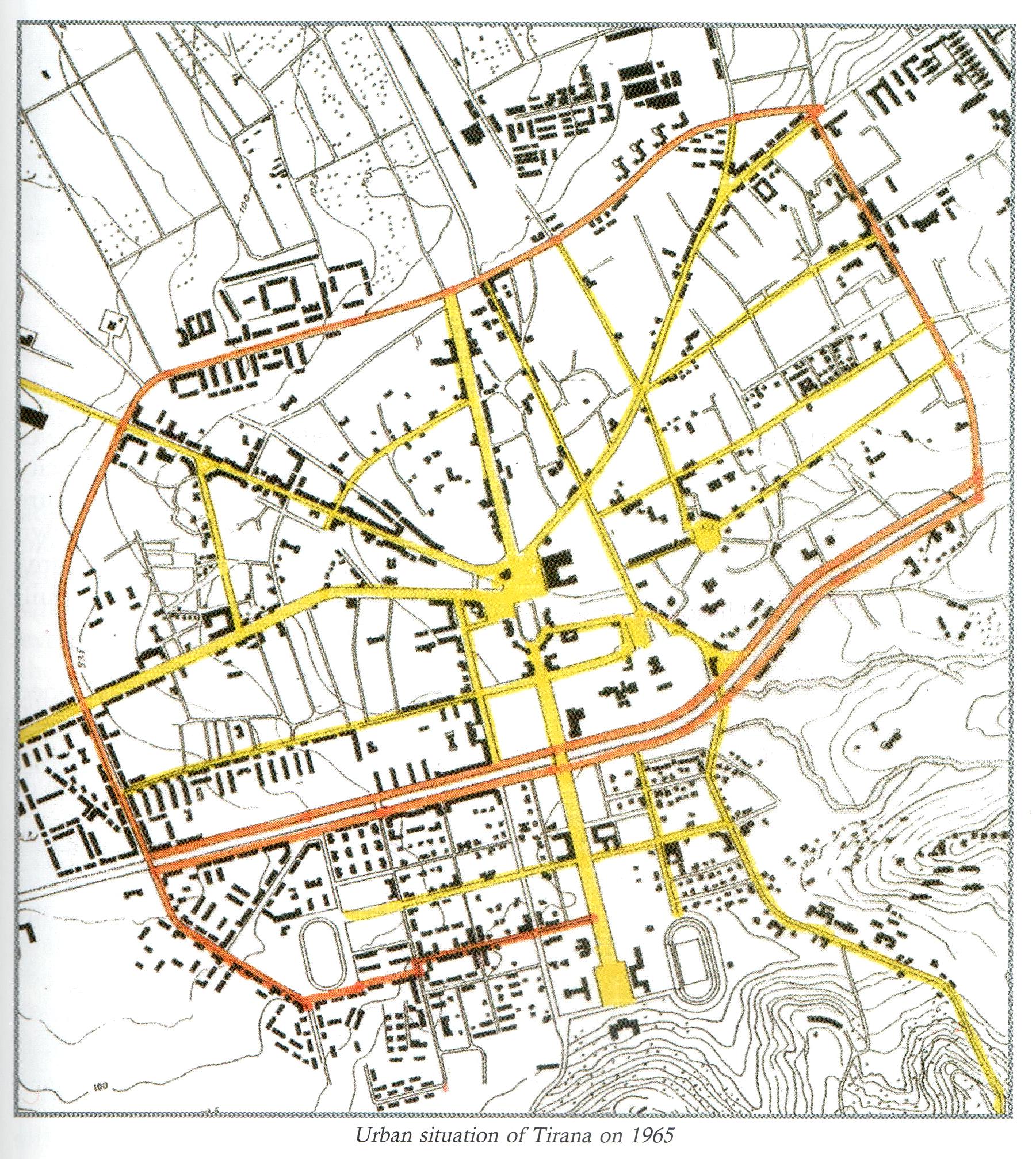 Tirana map 1957 - Full size