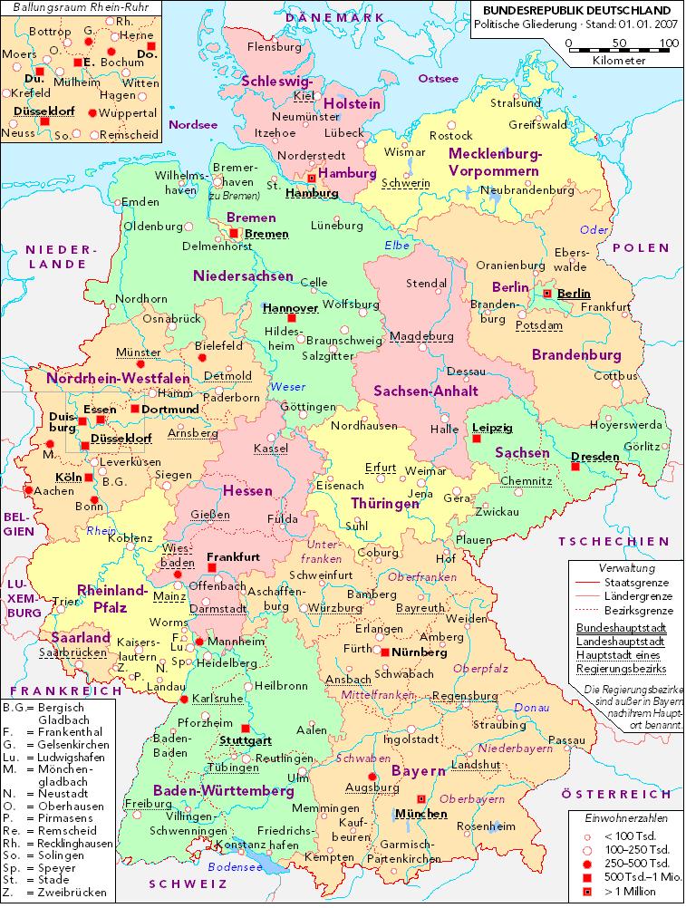 zonuimages0X02011052613781Political – Map of German Lander
