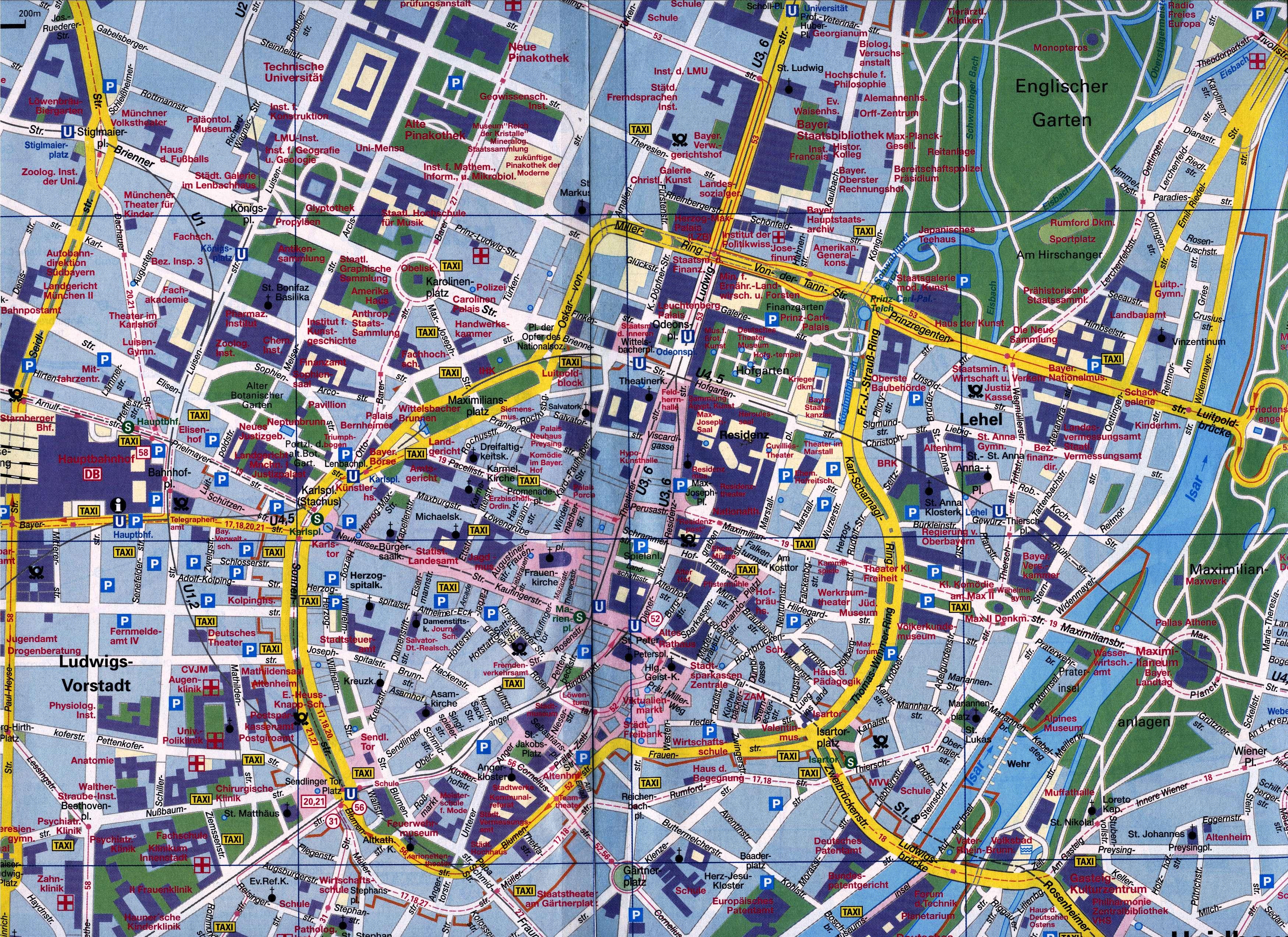 Map of Munich - Full size