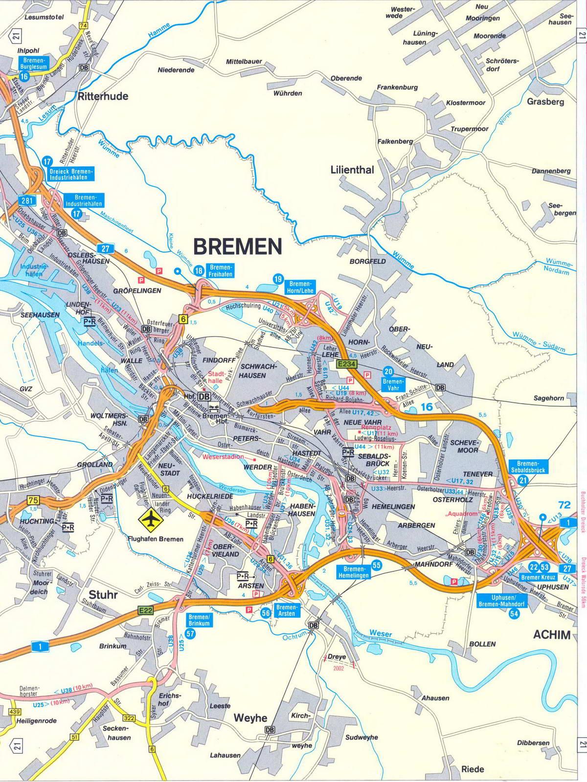 map bremen germany bremen map germany