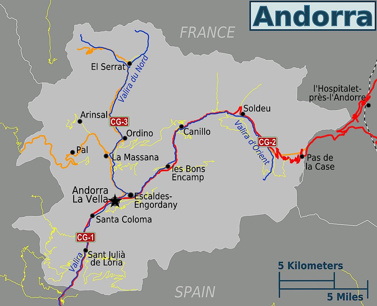 Mapa de Andorra | Metro Map | Bus Routes | Metrobus Way Map ...