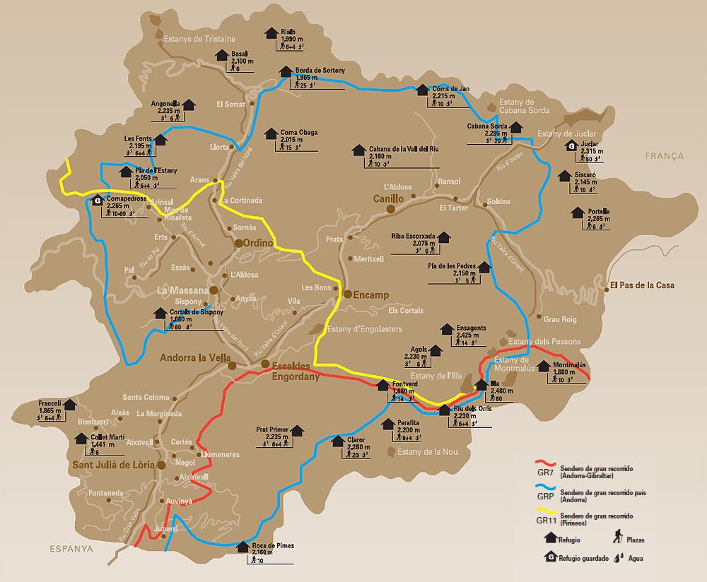 Mapa Andorra (font: zonu.com)