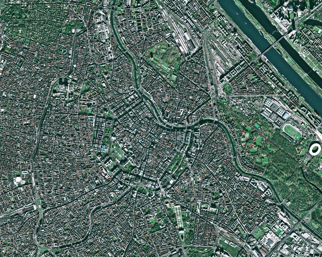 Imagen satelital de Viena 2004