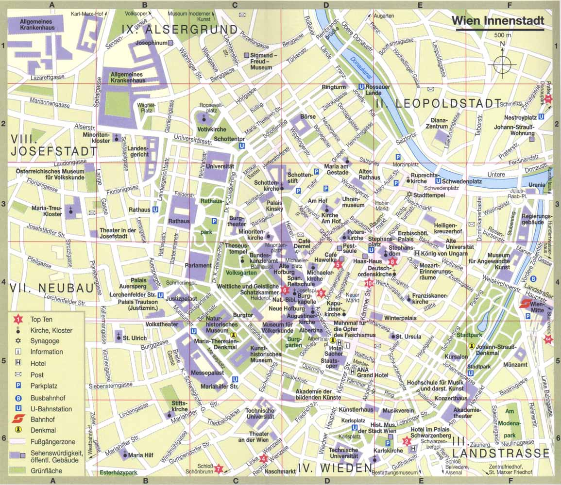 Tourist map of Vienna Full size – Tourist Map Of Vienna