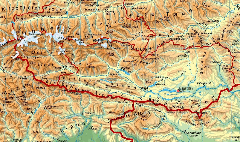 Map Of Carinthia Full Size