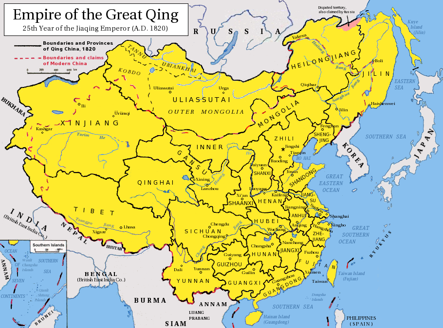 The Qing Dynasty in 1820 - Full size