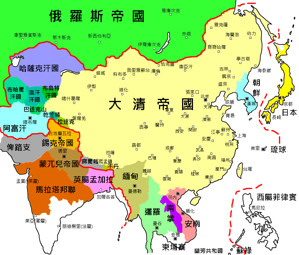 The Qing Dynasty in 1759 - Full size