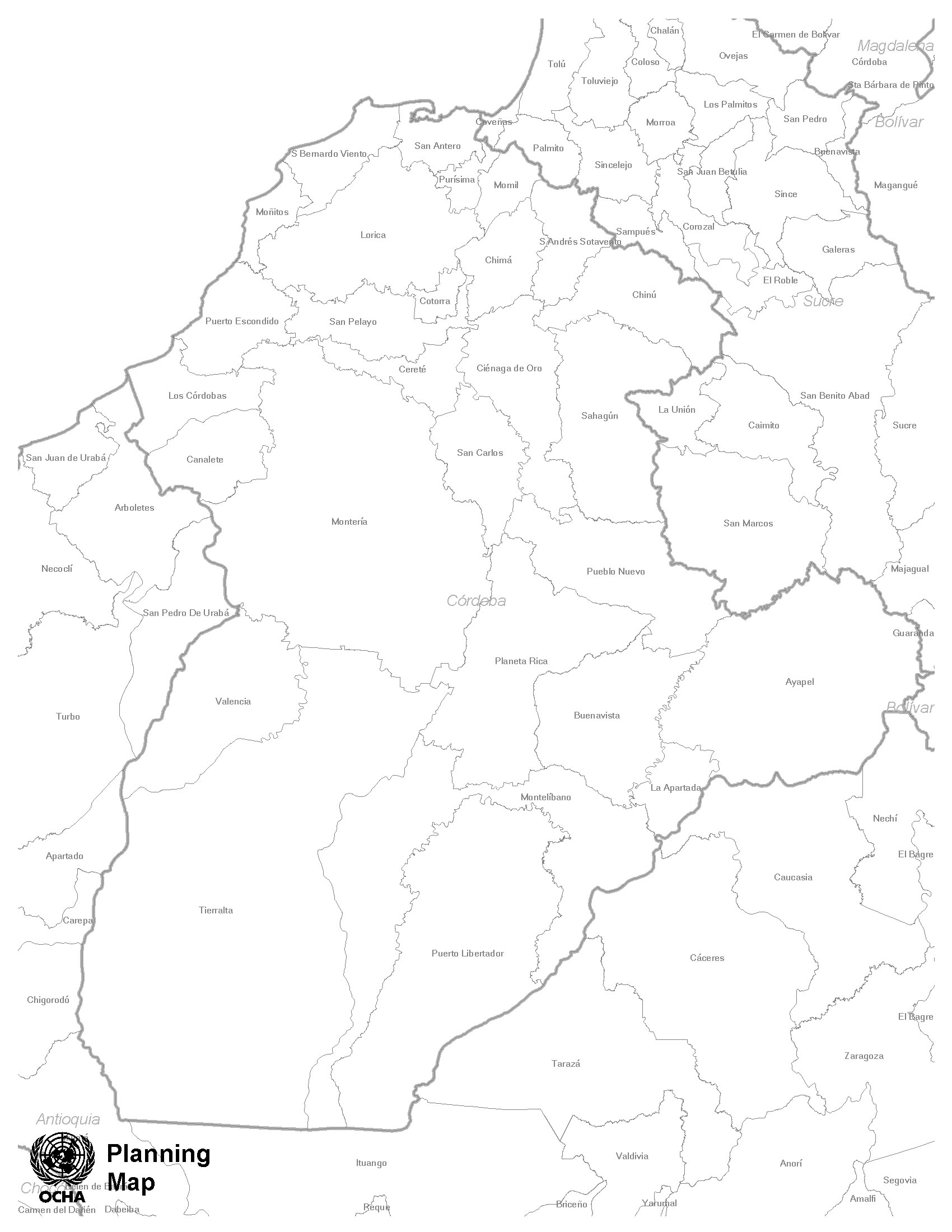 Blank central america map