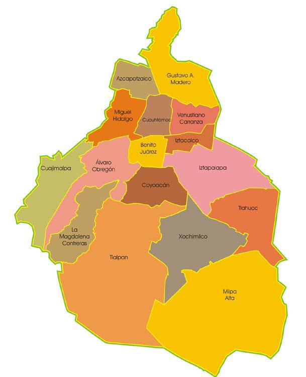 Mapa Ciudad de México DF | World Map Guide