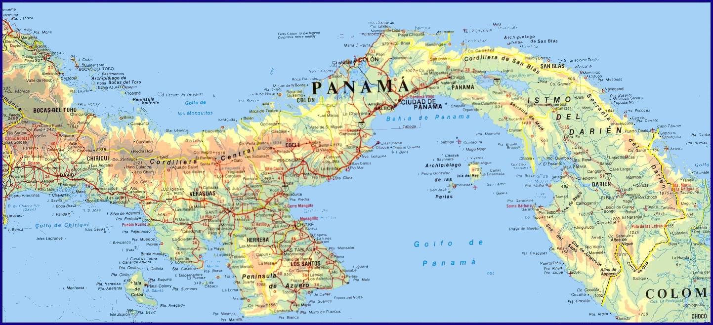 Mapa de carreteras de Panamá - Tamaño completo MAPA DE PANAMA