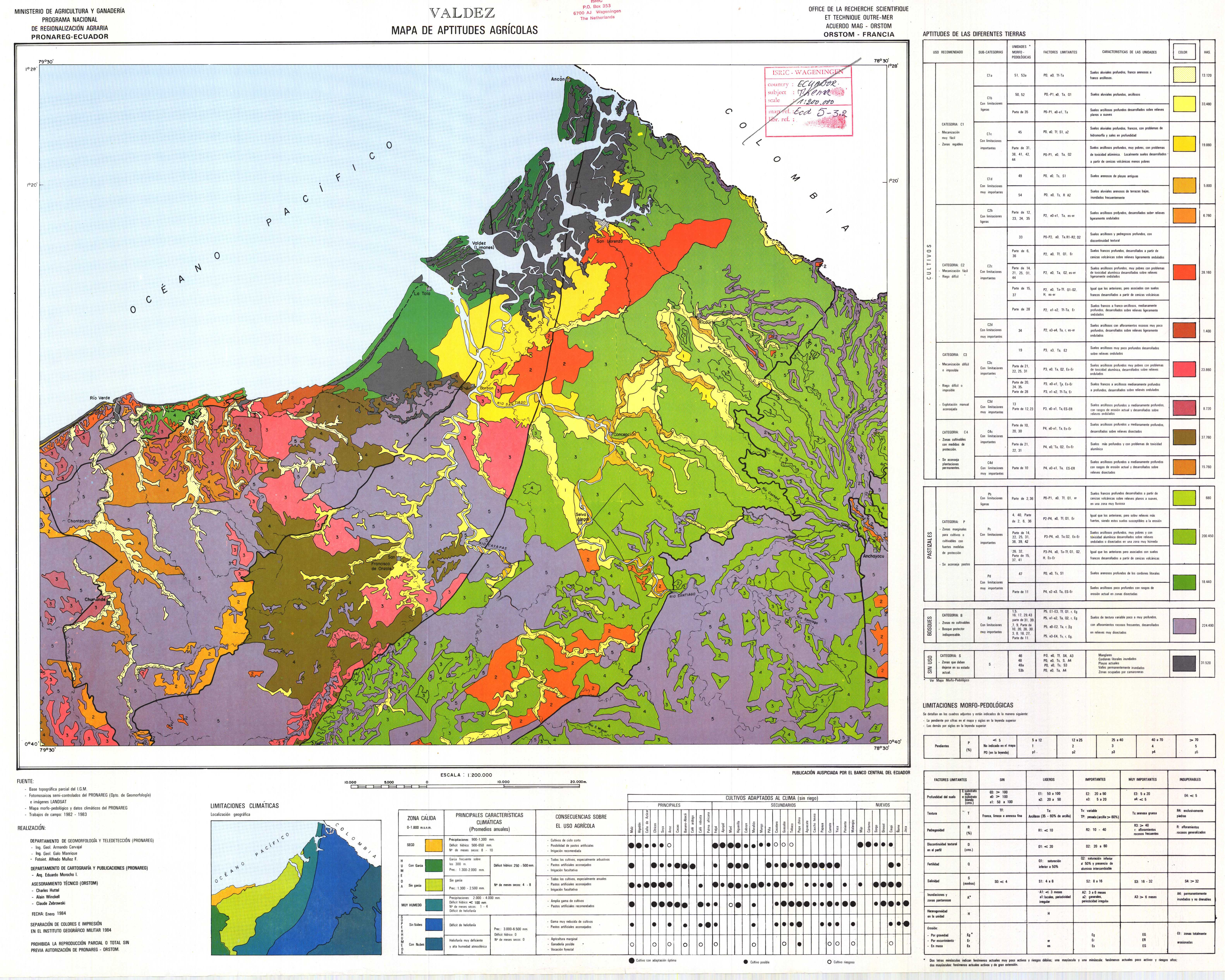 Agricultural suitability in the Valdez area 1984
