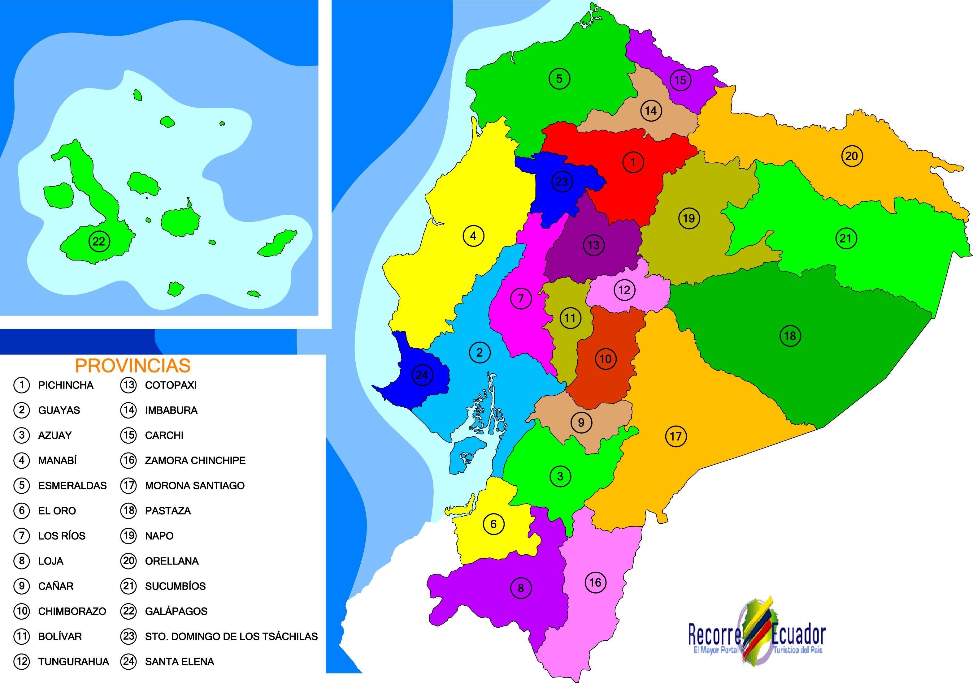 Mapa político del Ecuador mapa del ecuador