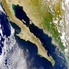 Satellite image of the Baja California peninsula