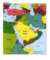 Middle East Political Map 1997