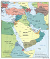 Middle East Political Map 2008