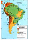 Indigenous and colonial domains in South America