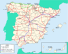 Spain railway network 2009