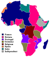European territorial claims of Africa in 1913
